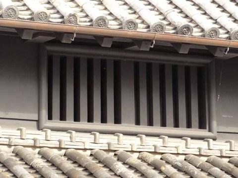 旧玉置家住宅-虫籠窓-