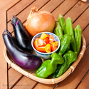 道の駅「山田錦発祥のまち・多可」多可町産朝どれ野菜の「地PIZZA」