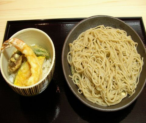 蕎麦とミニ天丼 冷.JPG