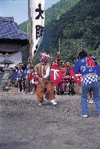中村貴船神社 龍王の舞い